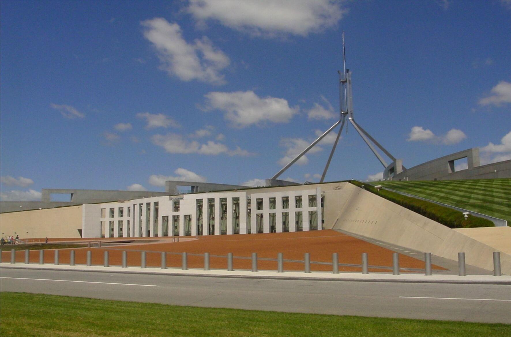 High security PAS68 bollards parliament house
